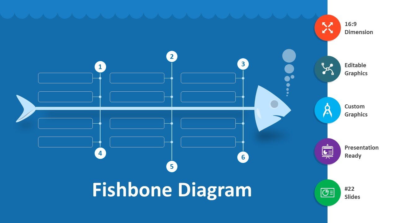 hight resolution of fishbone diagram editable powerpoint template