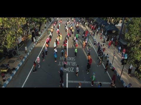Demam Asian Games 2018, Goyang Dayung Ala Presiden Jokowi Meriahkan CFD