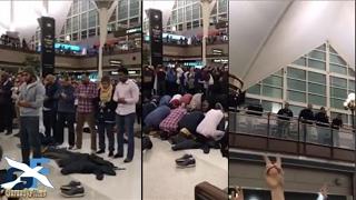 muslimiin geesi ah oo airport mareykanka ku yaala salaad ku xirtay ayago ka xun trump