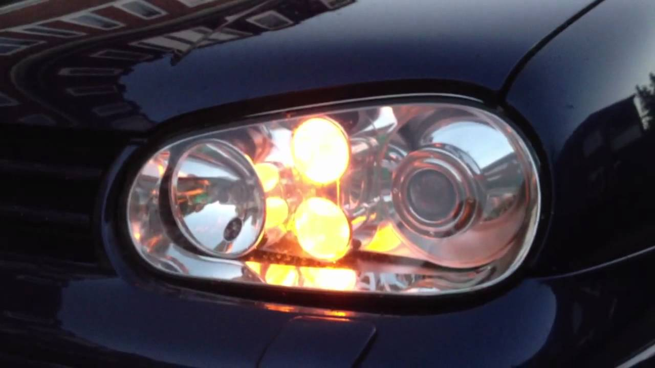 Golf 4 Xenon Amp Us Standlicht Youtube