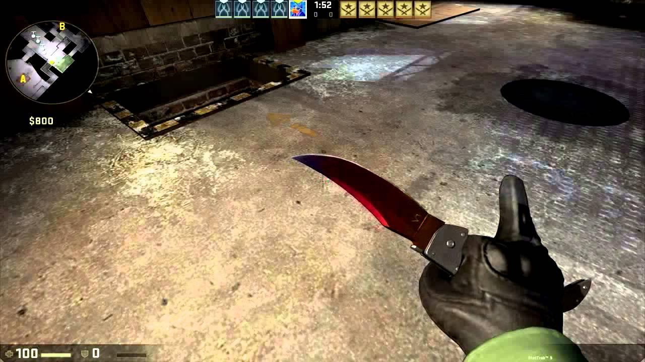cs go stattrak falchion knife fade showcase youtube