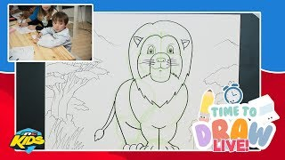 How to Draw a Lion | Time to Draw LIVE