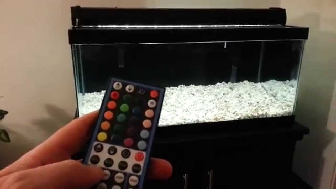 & A Better DIY LED Aquarium Light - Update: Tank with water - YouTube