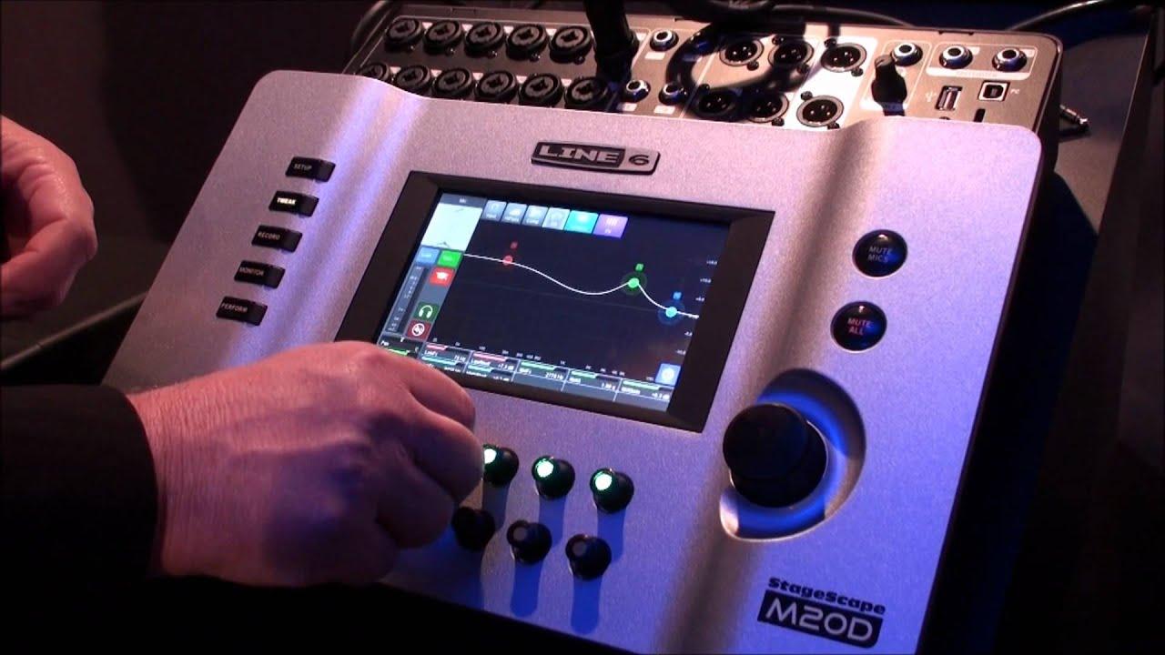 line 6 stagescape m20d digital mixer part 1 line 6 m20d namm 2012 youtube. Black Bedroom Furniture Sets. Home Design Ideas