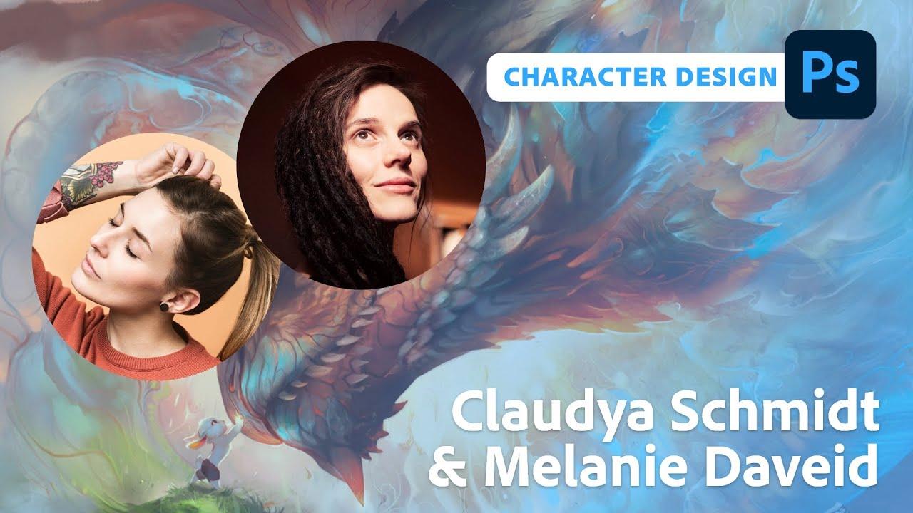 Charakterdesign mit Claudya Schmidt und Melanie Daveid  Adobe Live