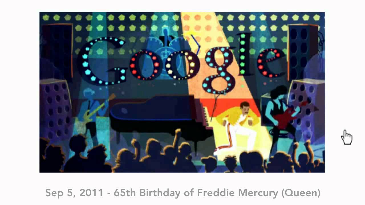 All Google doodles 2011 (global)