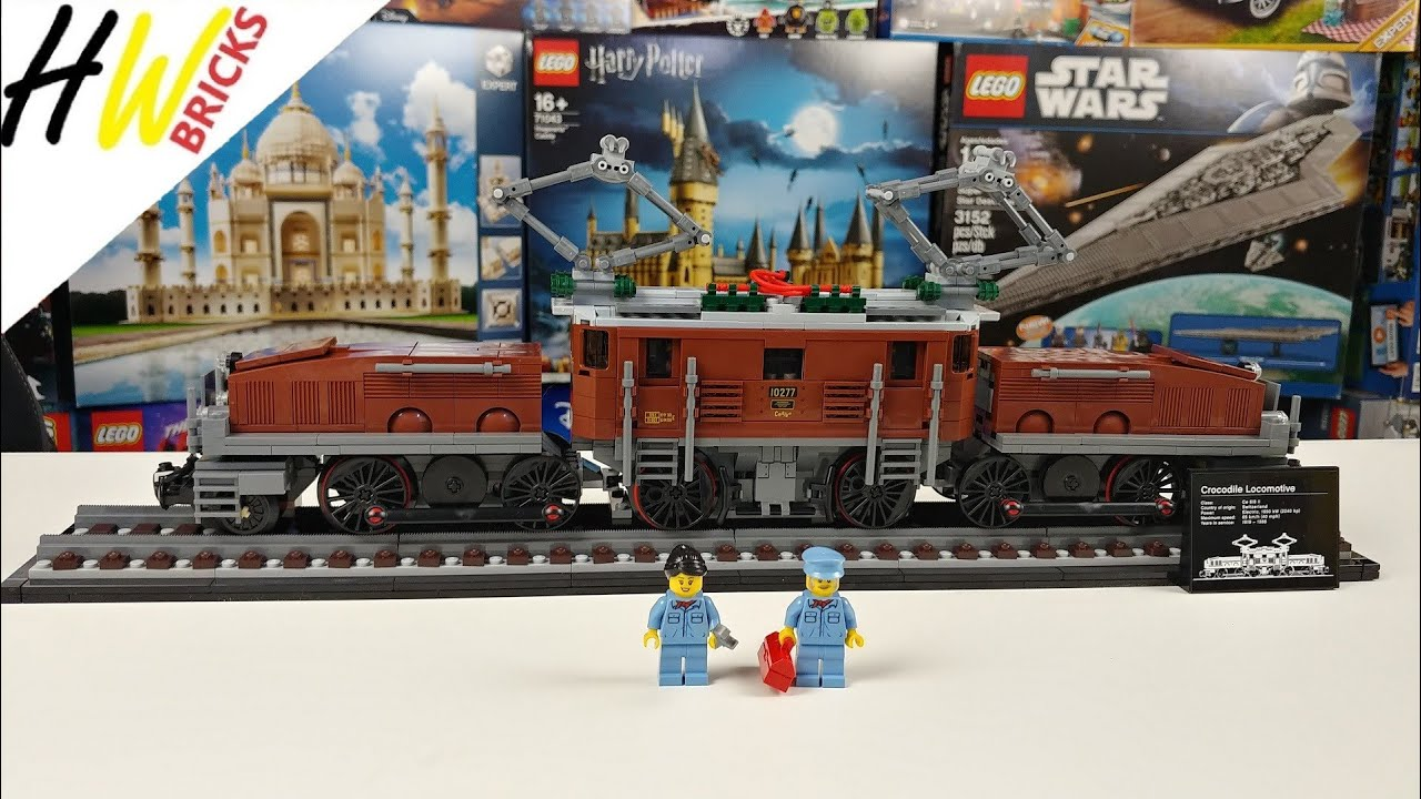 LEGO Creator 10277 Krokodil Lokomotive Review und Einbau der Powered Up Bauteile