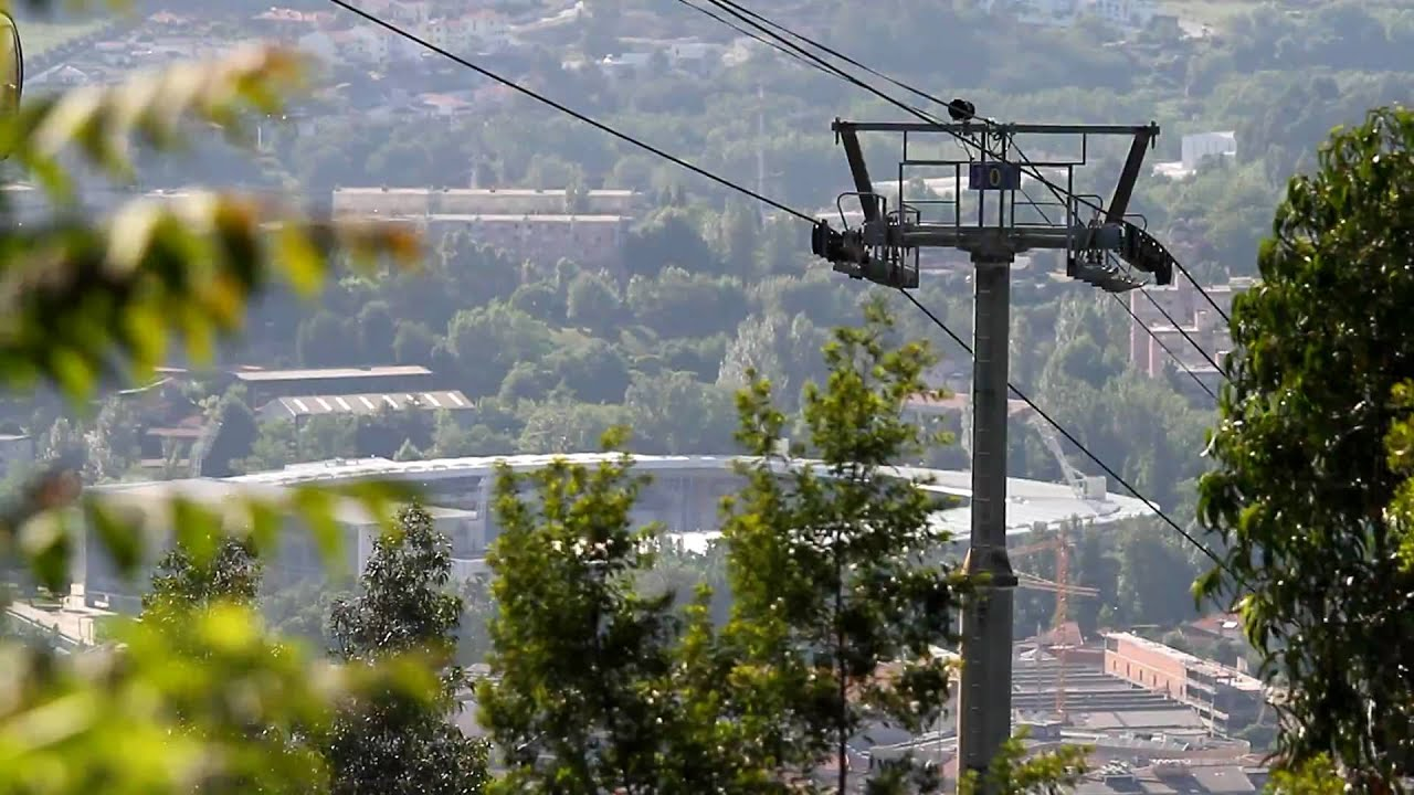 a8c1722fc7 Guimarães - the Cable Car and the Football Stadium as background ...