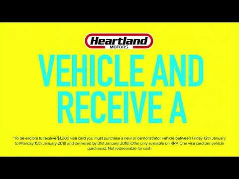 Heartland Motors' 4 Day Sale - Fri 12th to Mon 15th January