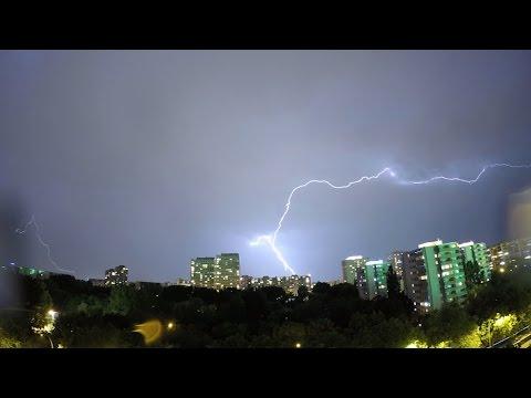 Storm Lightning Night Time Lapse GoPro Hero 4 Black 2015/07