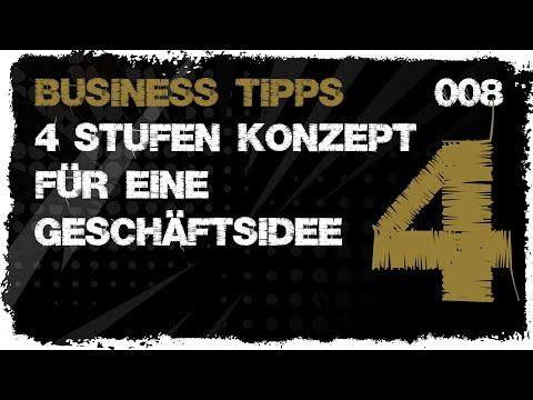 business tipps #008 - Geschäftsidee in einem 4 Stufen Konzept entwickeln