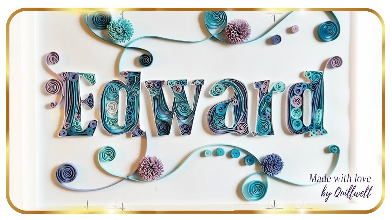 quilling letters template