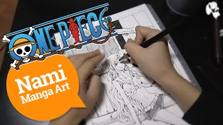 One Piece: Nami. Speed Drawing / Ван Пис: Нами. Манга Арт