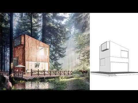 Photoshop Post Production | Architecture Visualization Rendering P.2