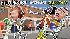 HELLO NEIGHBOR SHOPPING CHALLENGE! NEW HOUSE TOUR + WalMart Has EVIL Mannequins! (FGTEEV Beta 3 #1)