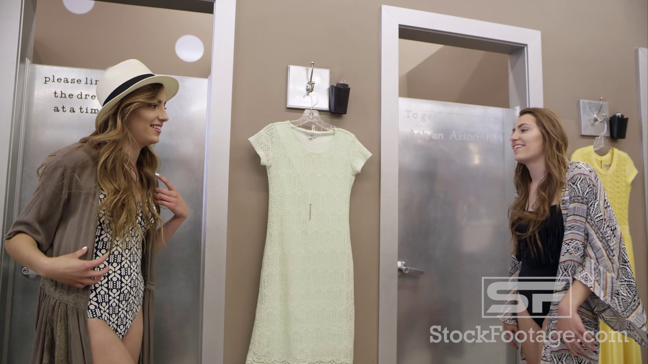 Teen girl dressing room