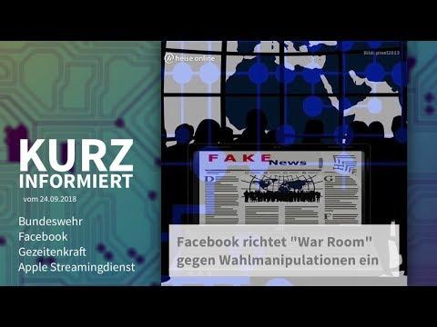 Bundeswehr, Facebook, Gezeitenkraft, Apple Streamingdienst | Kurz informiert vom 24.09.2018 :