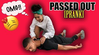 PASSED OUT PRANK ON GIRLFRIEND!! *EPIC REACTION*