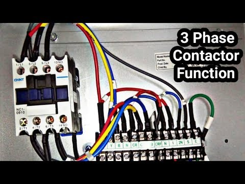 3 phase magnetic contactor test and basic work tutorial in Urdu/Hindi