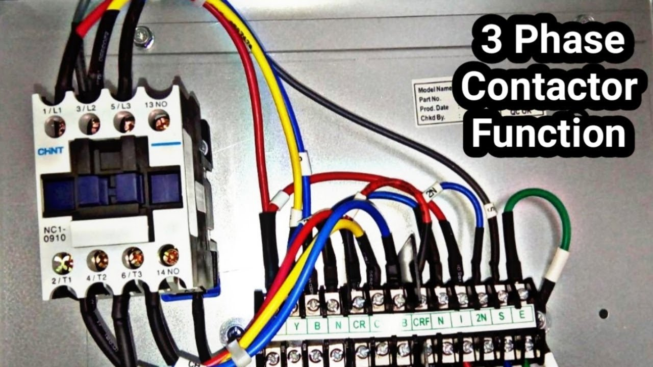 3 phase magnetic contactor test and basic work tutorial in urdu hindi [ 1280 x 720 Pixel ]