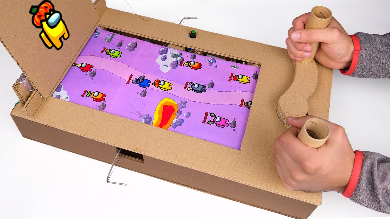 How To Make AMONG US Game From Cardboard