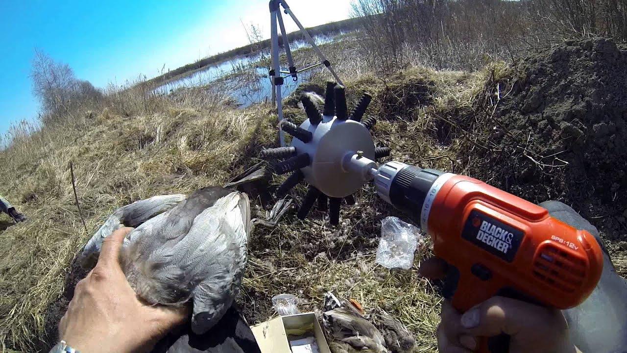 Перосъемный станок для ощипки кур гусей уток - YouTube