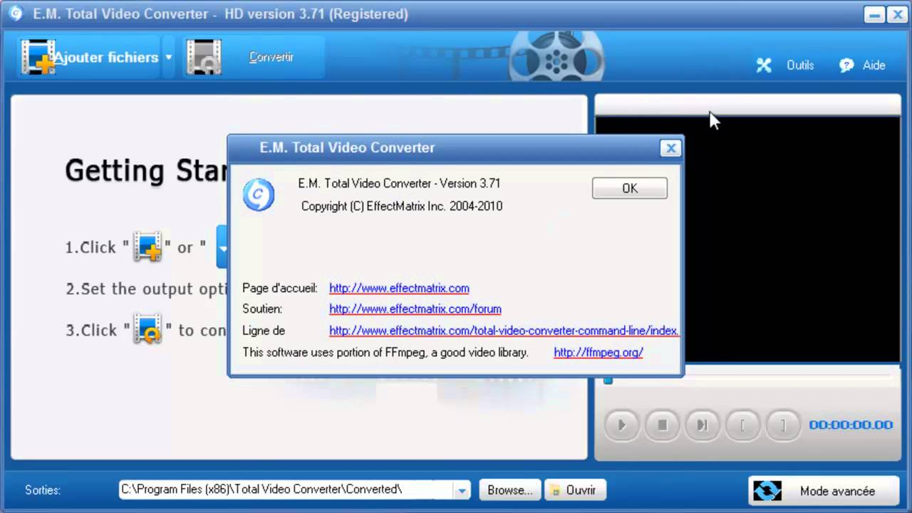 gratuitement e.m.total video player