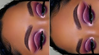 Purple Glitter Cut Crease | Huda Beauty NUDE Palette