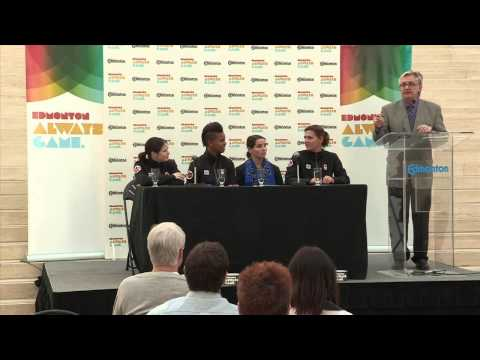 Press Conference - 4 Ladies of Canada's Olympic Soccer Team