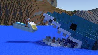 Monster School: Jet Ski - Minecraft Animation