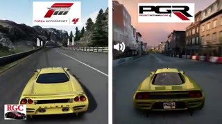 Forza Motorsport 4 vs Project Gotham Racing 4 - Saleen S7 Graphics & Sound Comparison