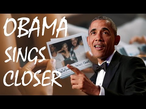 Thumbnail: BARACK OBAMA SINGS 'CLOSER' BY THE CHAINSMOKERS TO MICHELLE OBAMA