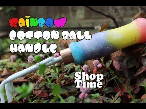 Rainbow Cotton Ball Handle