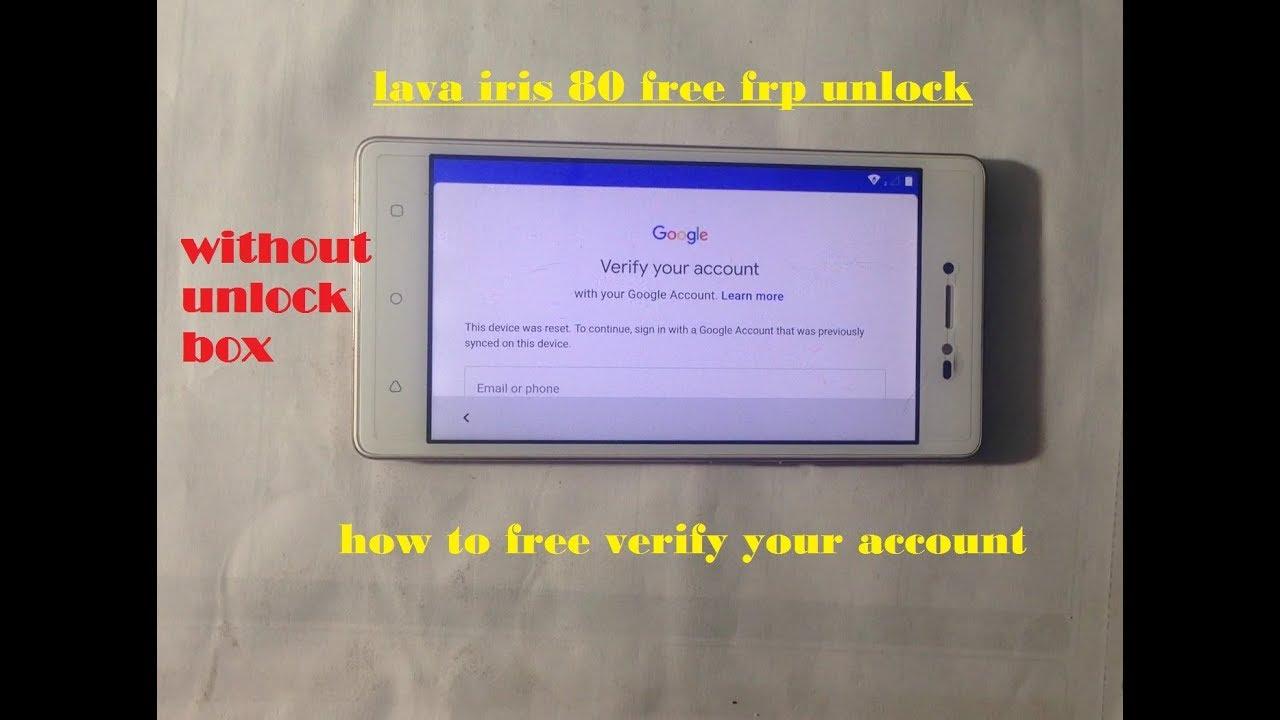 how to verify lava iris 80 frp lock
