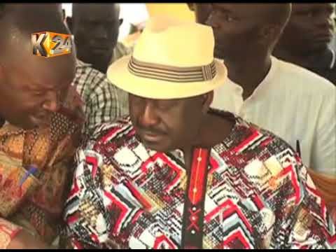 Raila: Government using police to reign terror on our supporters