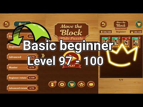 Move the block slide puzzle    Level 97, 98, 99 & 100  Basic beginner