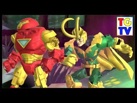 Marvel Super Hero Mashers Hulk Buster Iron Man (Battles Edited) | Mix + Smash