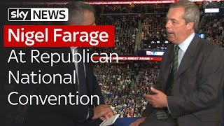 Nigel Farage At Republican National Convention