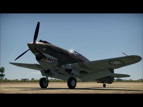 flying-tiger- -war-thunder-p-40c-cinematic-movie