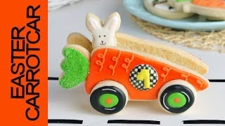 3d Easter Carrot Car Cookie Tutorial