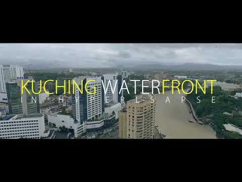 Kuching Waterfront in Hyperlapse