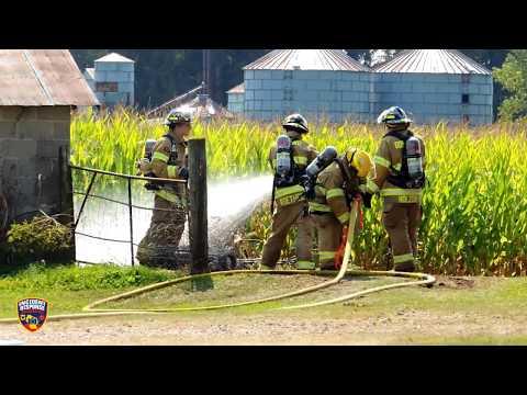 Town of Holland barn fire on September 10, 2017