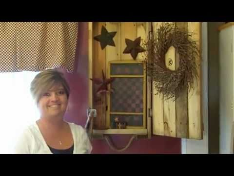 Primitive Country Decorating Ideas - Dynamite Crate Makeover - YouTube