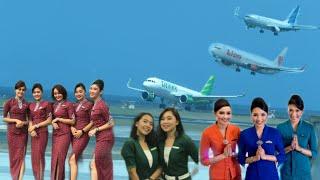 Pesawat Citilink,Lion Air dan Garuda Indonesia Landing di Bandara Ngurah Ray Bali