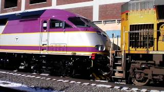 New Locomotive On A Siding In Chicago - MBTA  #011