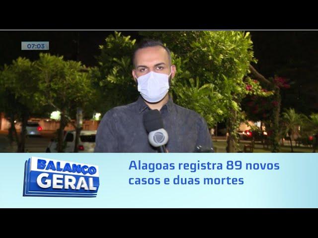 Números da pandemia: Alagoas registra 89 novos casos e duas mortes nas últimas 24 horas