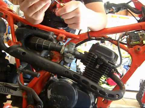 HONDA XR80R Throttle Cable Install  YouTube