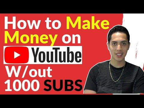 How To Make Money On Youtube Without 1000 Subs | 2020 Tutorial