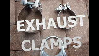Muffler clamps for Exhaust!  Band clamp, Lap joint, But joint, U bolt