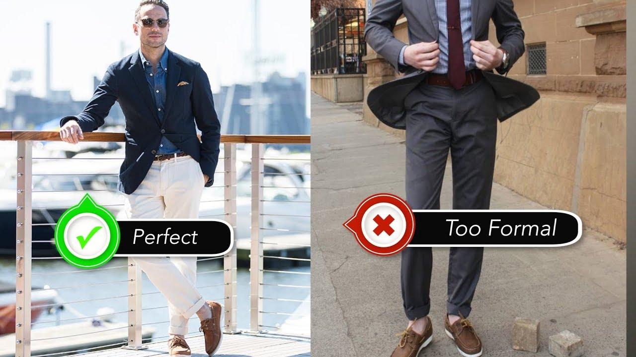 How to chinos wear and boat shoes photo